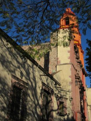 Le templo del Oratorio en fin d'après-midi. San Miguel de Allende, Guanajuato, Mexique.