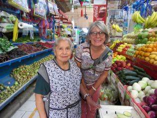 C'est le temps de dire au revoir à ma marchande préférée du mercado Ignacio Ramírez, San Miguel de Allende, Guanajuato, Mexique
