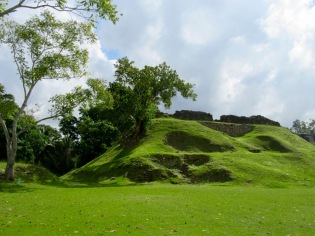 Un temple enfoui sous la végétation de Altun Ha, Belize District, Belize.