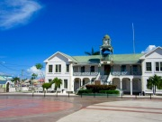 Le palais de justice, Belize City, Belize District, Belize.