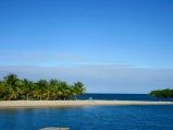 Placencia est construite sur l'extrémité sud d'une longue péninsule de sable. Stann Creek District, Belize.