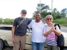 Sonny, notre chauffeur de taxi pour la visite de Lubaantun. Heureusement qu'il était là! Toledo District, Belize.