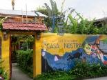 L'entrée du Guest House et Restaurant Casa Nostra est très accueillante, à l'image de ses propriétaires. Livingston, Guatemala.