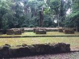 Les ruines isolées dans la jungle offrent un spectacle surprenant et certaines de ses structures sont bien conservées. (Photo de Robert) Aguateca, Petén, Guatemala.