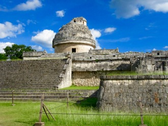 El Caracol, aussi nommé l'observatoire, permettait l'observation des astres. Chichen Itzà, Yucatán, Mexique.