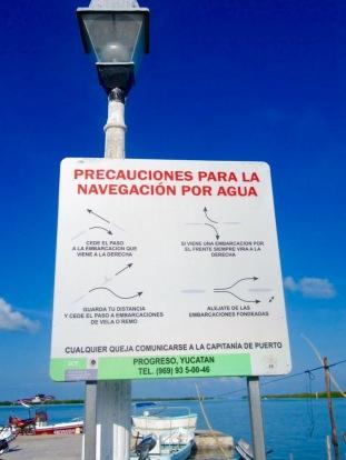 Règles de navigation, Rio Lagartos, Yucatán, Mexique.