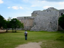 El Templo del Venado abritait une peinture représentant un cerf. Chichen Itzà, Mexique.