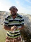 Selon notre guide, la terre fine de cette région serait un bon traitement pour la peau. Il a vainement tenté de me convaincre d'en faire l'essai. Rio Lagartos, Yucatán, Mexique.