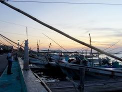 Les quais de Rio Lagartos accueillent une multitude de bateaux de pêcheurs. Yucatán, Mexique.