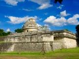 El Caracol possédait des ouvertures pratiquées de façon à pouvoir observer des astres bien précis selon les périodes de l'année. Chichen Itzà, Yucatán, Mexique.