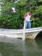 Cette fois-ci, le filet du lêcheur est bien garni, Rio Lagartos, Yucatán, Mexique.