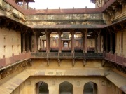 L'une des passerelles du Birsingh Deo Palace, Datia, Inde.