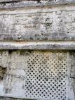 Détail d'un mur de l'édifice Las Monjas. Chichen Itzà, Yucatán, Mexique.