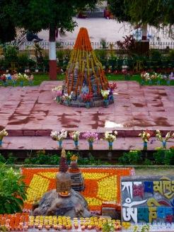Au temple Mahabodhi, Bodh Gaya, Inde.