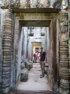 Couloir central, Preah Khan, Siem Reap, Cambodge.
