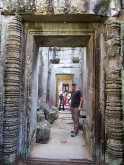 Couloir central, Preah Khan, Siem Reap, Cambodge.