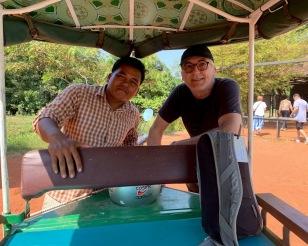 Notre chauffeur et complice pour la visite des temples d'Angkor, Siem Teap, Cambodge.