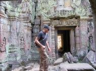 Pièce intérieure à Preah Khan, Siem Reap, Cambodge.