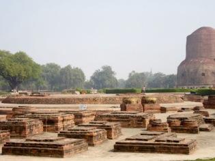 Les ruines de Sarnath en Inde.