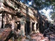 Une des entrées de Ta Prohm où la nature reprend ses droits. Siem Reap, Cambodge.