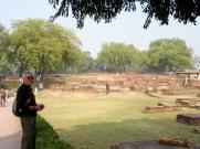 Au site archéologique de Sarnath, Inde.