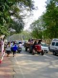 Animation dans les rues de Bodh Gaya, en Inde.
