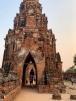 Une partie du mur d'enceinte autour du Wat Chao Wattanaram est toujours en bon état. Ayutthaya, Thaïlande.