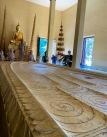 L'empreinte du pied de Bouddha peut être observée dans l'une des pagodes du Palais royal, Phnom Penh, Cambodge.