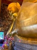 Le très impressionnant Bouddha couché, Wat Pho, Bangkok, Thaïlande.