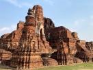 Le Wat Maha That, vestige d'une civilisation ancienne et très sophistiquée. Ayutthaya, Thaïlande.
