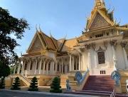 Une des façades de la salle du trône du Palais Royal. Phnom Penh, Cambodge.